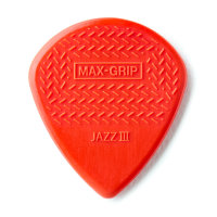 Медиатор Dunlop Nylon Jazz III Max Grip, красный, поштучно