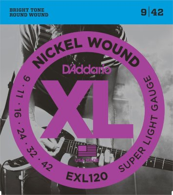9-42 D`Addario EXL120 Super Light