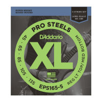 D'Addario EPS165-5 45-135 Струны для бас-гитары Pro Steels Medium