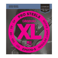 D'Addario EPS170-5 45-130 Струны для бас-гитары Pro Steels Light 5-String