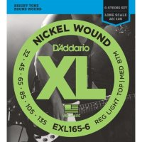 D'Addario EXL165-6 32-135 Струны для бас-гитары Nickel Bass 6-string