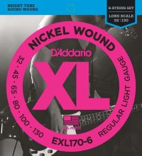 D'Addario EXL170-6 32-130 Струны для бас-гитары Nickel Wound Electric Bass