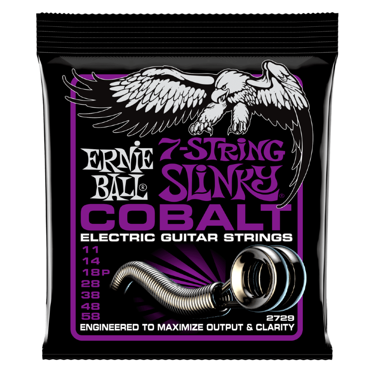 Ernie Ball 2729 11-58 Струны для 7-струнной электрогитары Cobalt Power Slinky