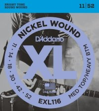 D'Addario EXL116 11-52 Medium Top/Heavy Bottom Комплект струн для электрогитары