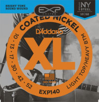 D'Addario EXP140 10-52 Coated Nickel Light Top/Heavy Bottom Комплект струн для электрогитары