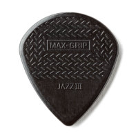 Медиатор Dunlop Nylon Jazz III Max Grip, черный, поштучно