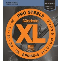 D'Addario EPS160-5 50-135 Струны для бас-гитары Pro Steels Medium