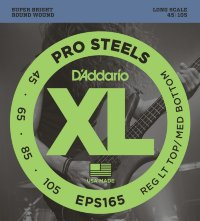 D'Addario EPS165 45-105 Струны для бас-гитары Pro Steels Reg Lt Top Med Bottom
