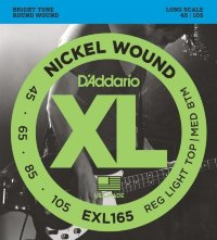 D'Addario EXL165 45-105 Струны для бас-гитары Nickel Wound Electric Bass