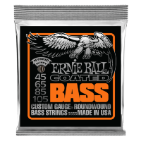 Ernie Ball 3833 45-105 Струны для бас-гитары Coated Bass Hybrid Slinky