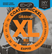 D'Addario EXP110 10-46 Coated Nickel Regular Light Струны для электрогитары