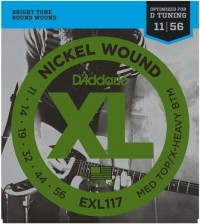D'Addario EXL117 11-56 Medium Top/Extra Heavy Bottom Комплект струн для электрогитары