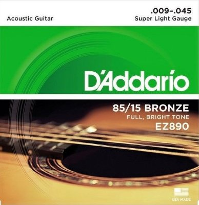 09-45 D'Addario EZ890 85/15 Bronze Super Light