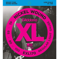 D'Addario EXL170 45-100 Струны для бас-гитары Nickel Wound Electric Bass