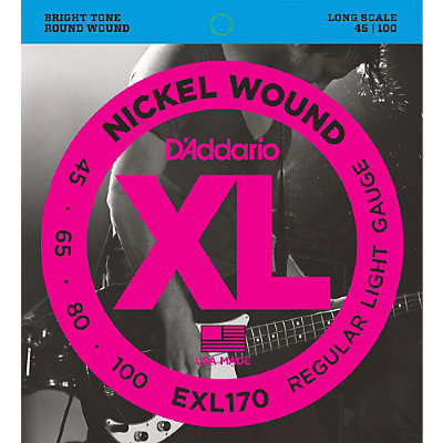 45-100 D`Addario EXL170 Nickel Wound Electric Bass