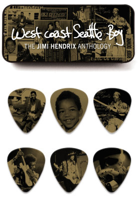 Dunlop Jimi Hendrix West Coast Seattle Boy Pick Tin
