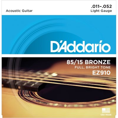 11-52 D'Addario EZ910 85/15 Bronze Light