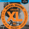 Струны для электрогитары D'ADDARIO EXL110-7 Light, комплект для 7-струнной гитары