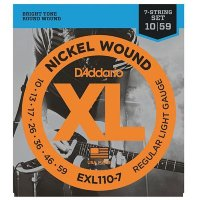 D'Addario EXL110-7 10-59 Regular Light/7-String Комплект струн для 7-струнной электрогитары