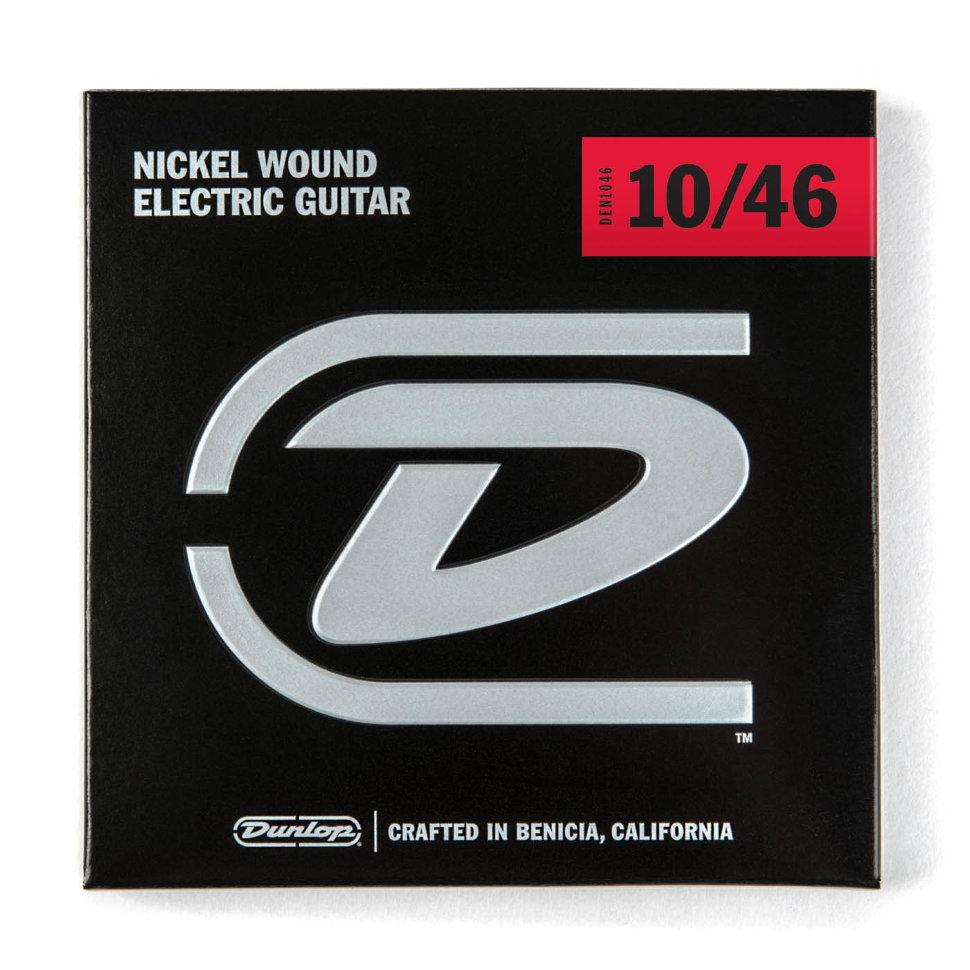 Dunlop 3PDEN1046 Струны для электрогитары никелированные, Medium, 10-46, Dunlop
