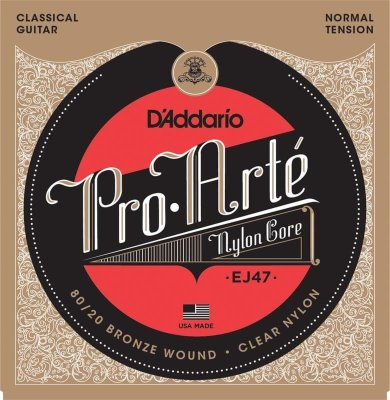 28-43 D'Addario EJ47 Pro Arte Nylon Core 80/20 Bronze Normal Tension