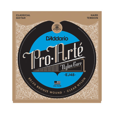 29-44 D'Addario EJ48 Pro Arte Nylon Core Silverplated Hard Tension