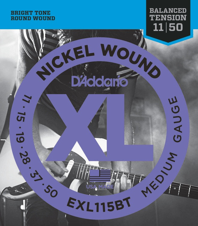 D'Addario EXL115BT 11-50 Medium Струны для электрогитары