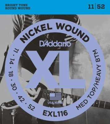 11-52 D'Addario EXL116 Medium Top/Heavy Bottom