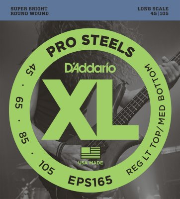 45-105 D`Addario EPS165 Pro Steels Reg Lt Top Med Bottom