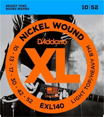 10-52 D'Addario EXL140 Light Top/Heavy Bottom
