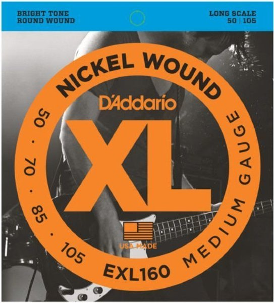 50-105 D`Addario EXL160 Nickel Wound Electric Bass